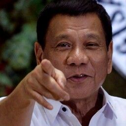 Filipiinide president Rodrigo Duterte.