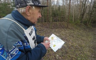 93-aastane Richard Rooden on Eesti vanim orienteeruja.