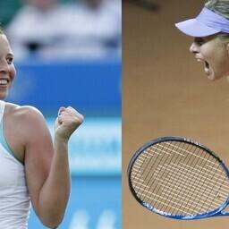 Букмекеры не верят в то, что Анетт Контавейт (слева) может победить Марию Шарапову.