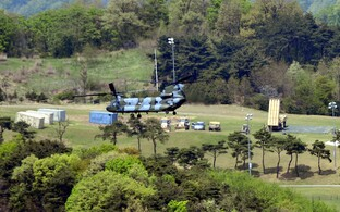 A Terminal High Altitude Area Defense (THAAD) Lõuna-Koreas 27. aprillil.