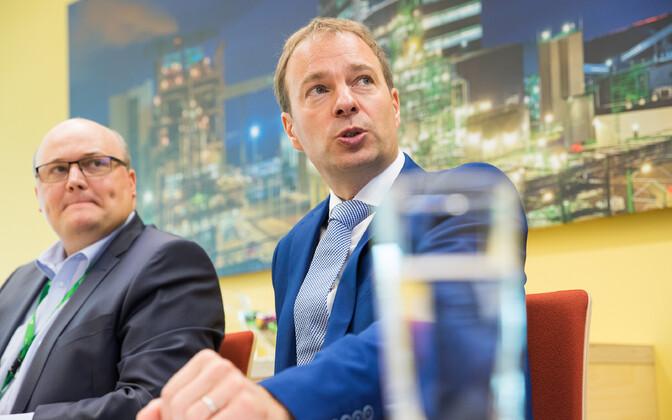 Eesti Energia CFO Andri Avila and CEO Hando Sutter.