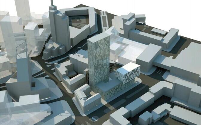 Allianss Arhitektid OÜ eskiis oli üks kolmest esitatud tööst.