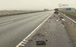 Libeduse tõttu sattus hommikul 30 autot avariisse.