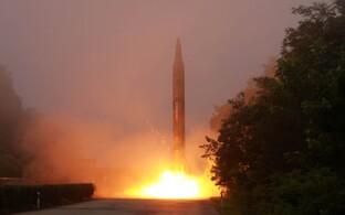 Raketikatsetus Põhja-Koreas, arhiivifoto.