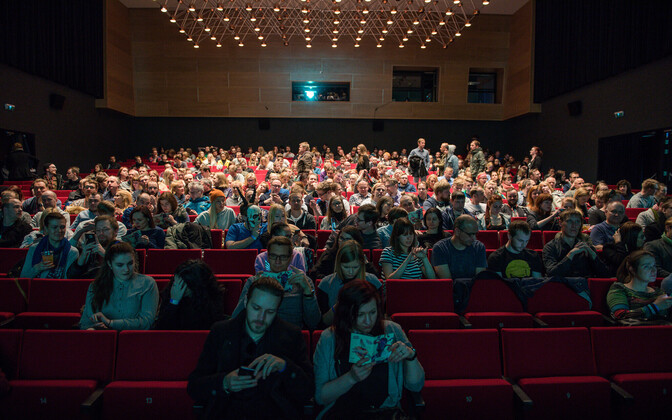 Cinemagoers at the Haapsalu Horror & Fantasy Film Festival (HÕFF) in 2017.