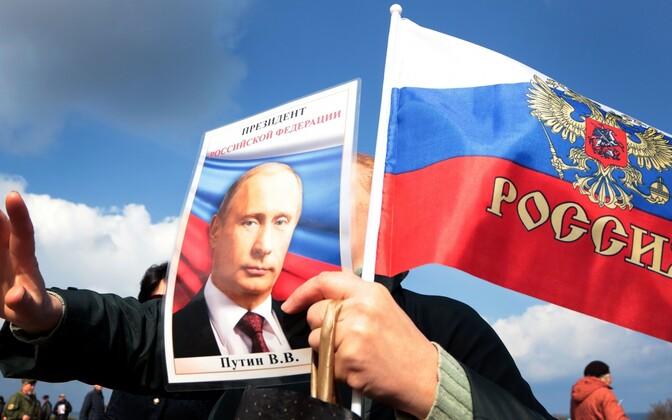 Moskva-meelne miitinguline 18. märtsil Sevastopolis.