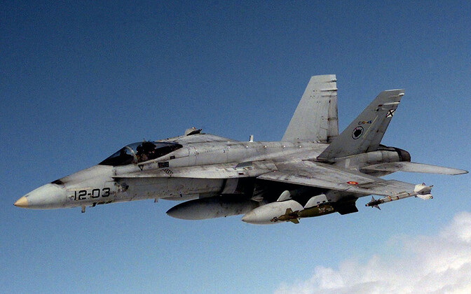 F-18 fighter of the Spanish Air Force.