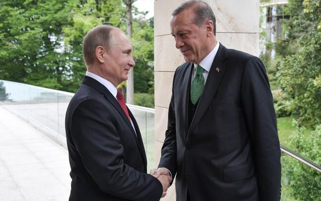 Встреча президентов РФ и Турции Владимира Путина и Реджепа Эрдогана в Сочи.