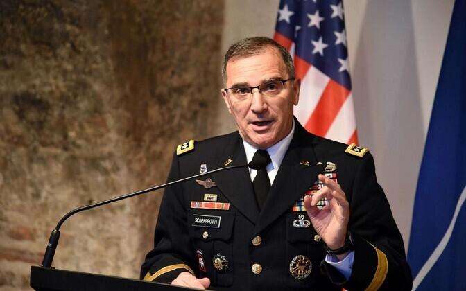 USA Euroopa vägede juhataja kindral Curtis Scaparrotti, kes on samal ajal ka NATO Euroopa liitlasvägede ülemjuhataja (SACEUR).