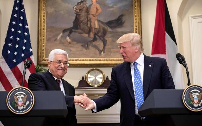 Mahmoud Abbas ja Donald Trump.