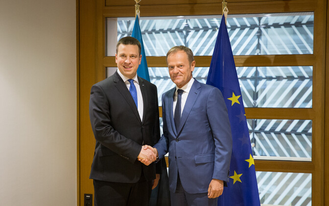 Prime Minister Jüri Ratas and President of the European Council Donald Tusk in Brussels. May 3, 2017.