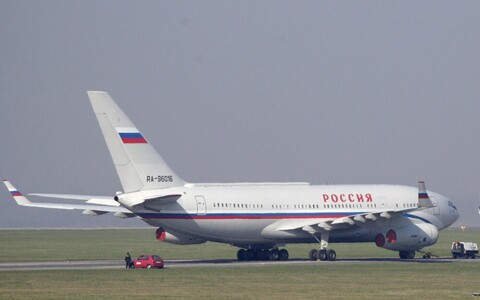 IL-96 plane of the Russian presidential administration's airline.