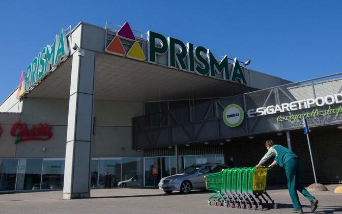 Prisma supermarket Tallinnas.