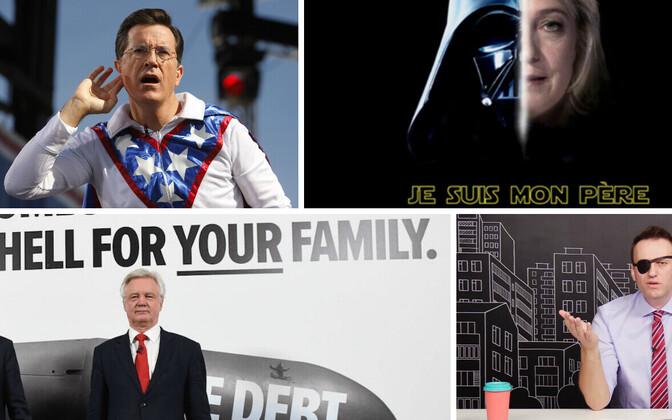 Stephen Colbert, Darth Vader ja Marine Le Pen, Brexiti-minister David Davis ja viga saanud silmaga Aleksei Navalnõi.