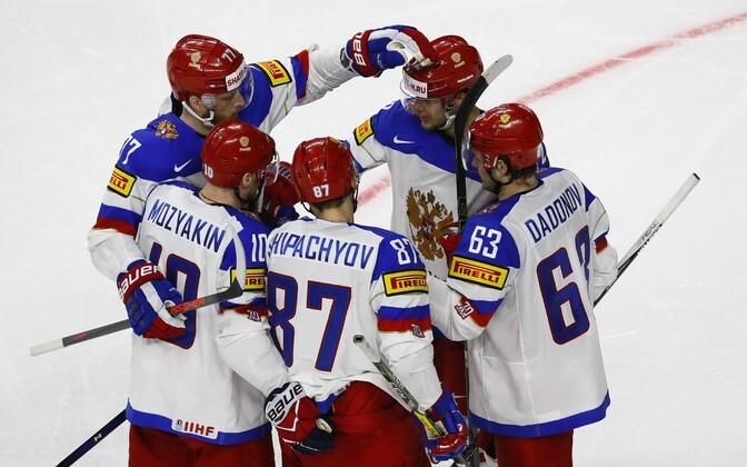 Хоккеисты сборной России.