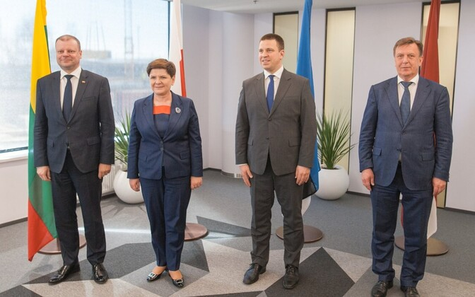 The Prime Ministers of Lithuania, Poland, Estonia and Latvia. May 8, 2017.