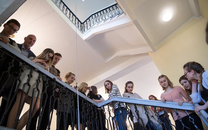 Students at Gustav Adolf High School in Tallinn. Photo is illustrative.