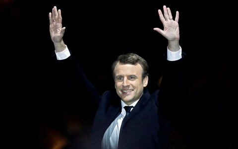 Emmanuel Macron, the next president of France.