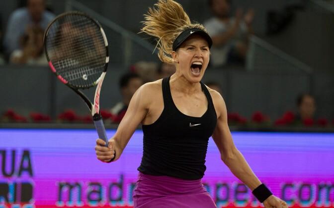 Eugenie Bouchard pärast Maria Šarapova alistamist.