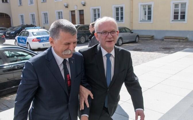 Kövér and Nestor in Tallinn, May 9, 2017.