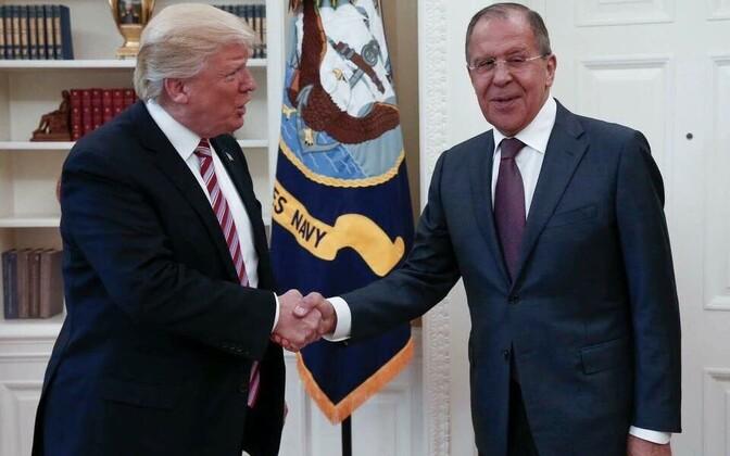 Трамп и Лавров встретились в  Вашингтоне 10 мая.
