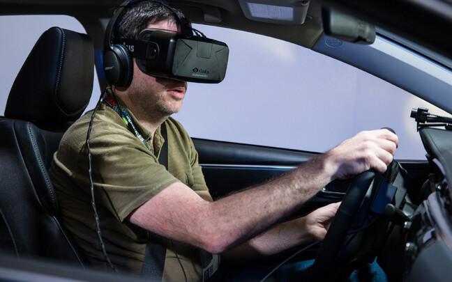 Autosõit kombineerub virtuaalreaalsusega.