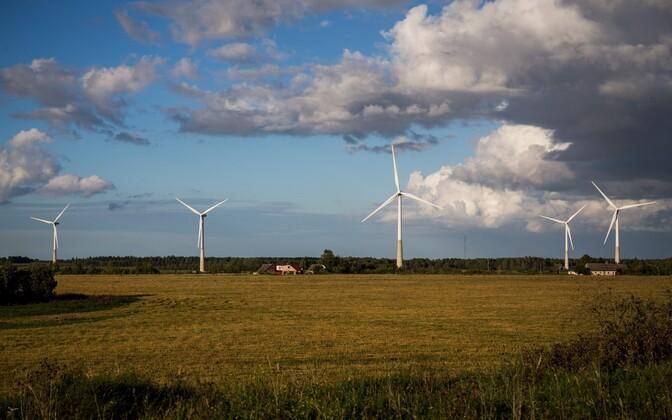 Viru-Nigula wind farm in Tüükri village, Lääne-Viru County. Photo is illustrative. Sept. 9, 2016.