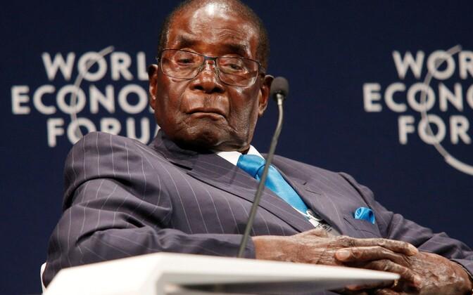 Zimbabwe president Robert Mugabe 4. mail Durbanis konverentsil.