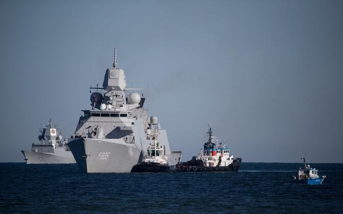 NATO ships arriving in Tallinn. May 12, 2017.