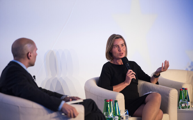 Mogherini at the opening session of the 2017 Lennart Meri Conference, May 12, 2017.