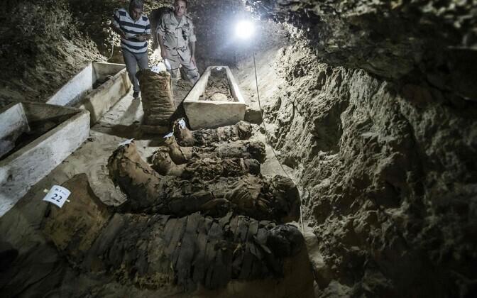Гробница периода фараонов Среднего царства в провинции Эль-Минья.
