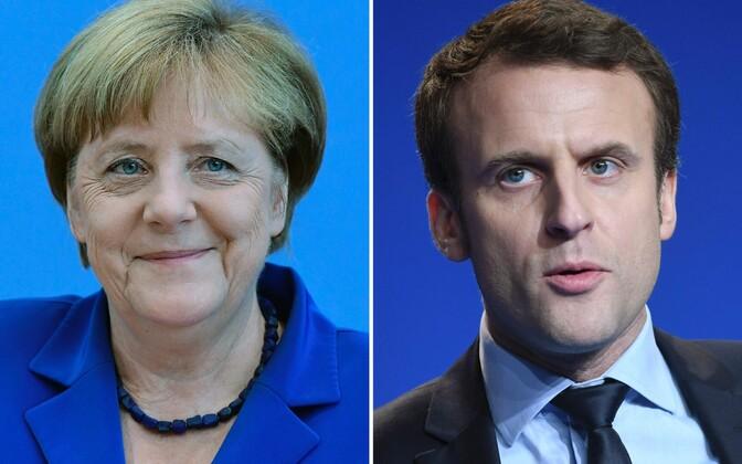 Владимир Путин обсудил ситуацию вСирии сАнгелой Меркель иЭммануэлем Макроном
