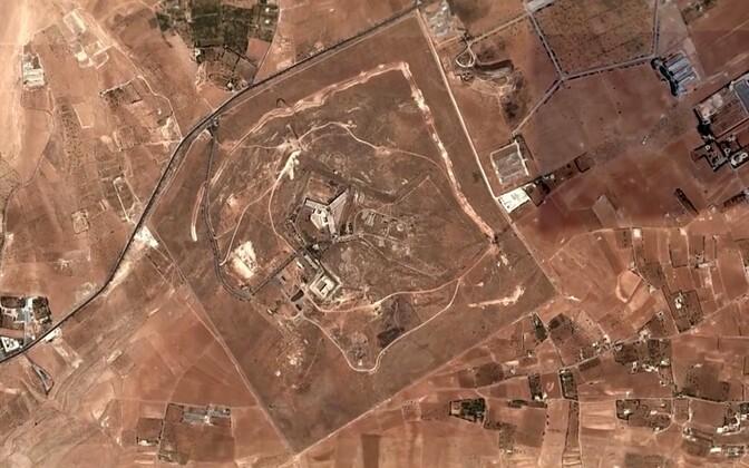 Satelliitfoto Saydnaya sõjaväevangla territooriumist, mis avaldati 2016. aasta juulis.