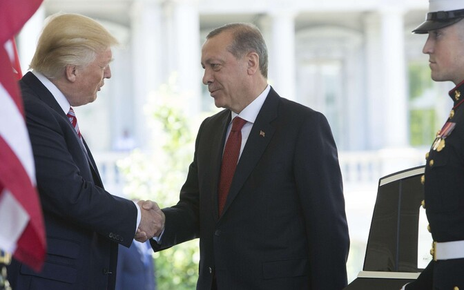 Trump ja Erdogan Washingtonis.