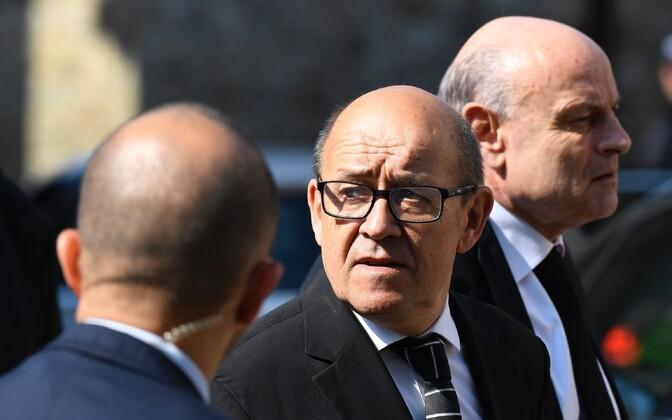 Senine kaitseminister ja nüüdne välisminister Jean-Yves Le Drian.