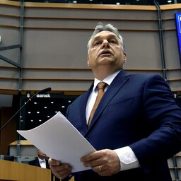 Ungari peaminister Viktor Orban 26. aprillil Euroopa Parlamendis.