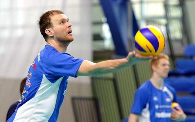 Eesti võrkpallikoondise treening / Oliver Venno