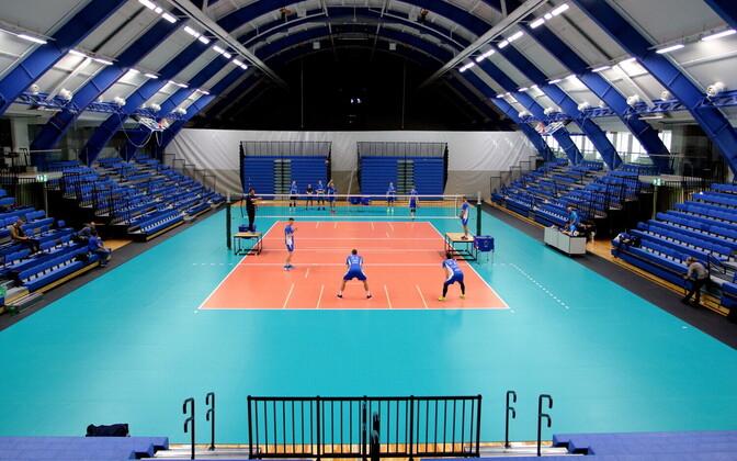Eesti võrkpallikoondise treening / Kalevi spordihall