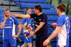 Тренировка сборной Эстонии по волейболу.