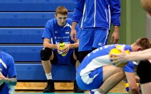 Eesti võrkpallikoondise treening / Timo Tammemaa