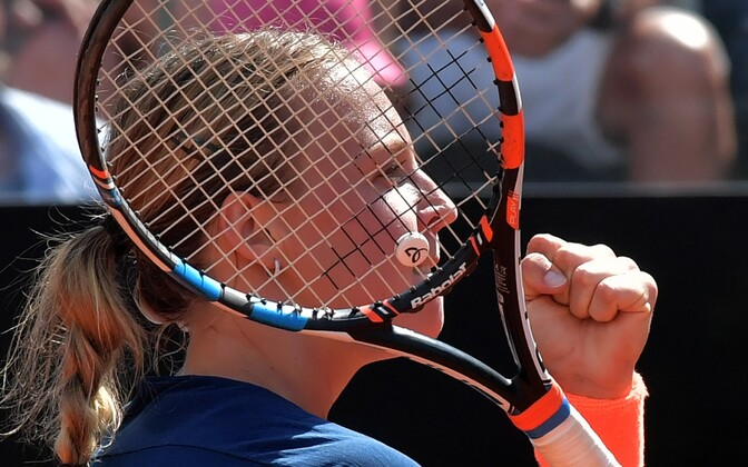 Anett Kontaveit defeated number one Angelique Kerber in just two matches. May 17, 2017.