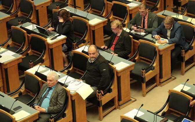 A marathon session of the Riigikogu. May 2017.