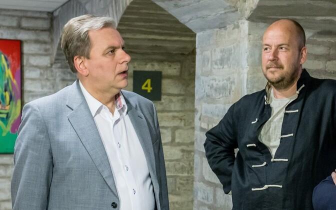 Andres Herkel (left) and Artur Talvik.