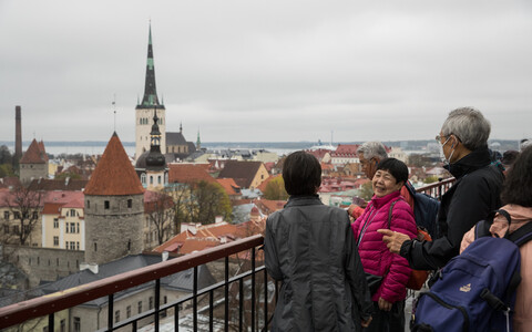 Tallinn is a popular destination for groups of Asian tourists, including those from Japan.