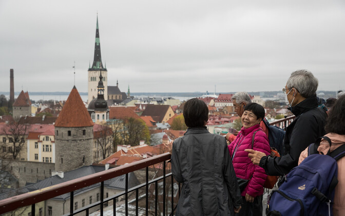 One of three viewing platforms in Toompea in Tallin's Old Town.
