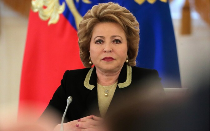 Speaker of the Federation Council Valentina Matviyenko.