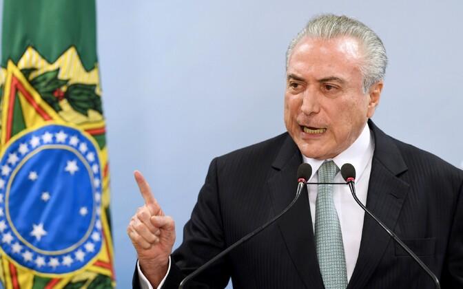 Brasiilia President Michel Temer.