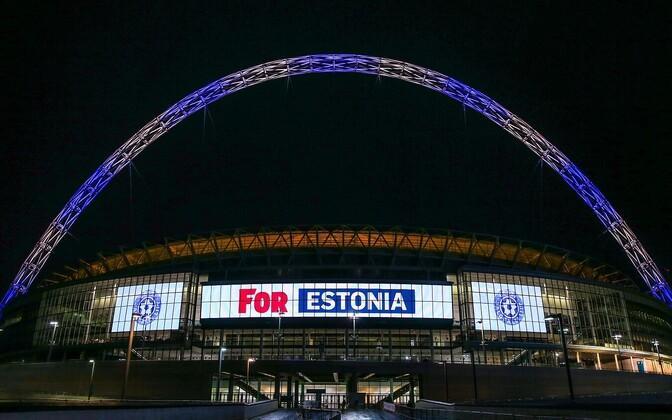 Wembley staadion tähistas sünnipäeva Eesti värvides
