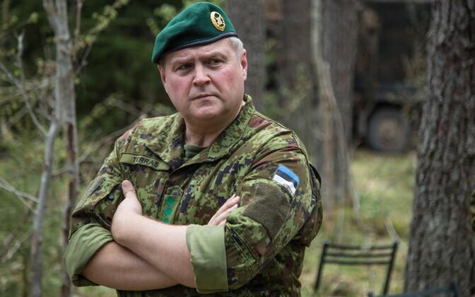 Commander of the Estonian Defence Forces Gen. Riho Terras visiting Spring Storm.