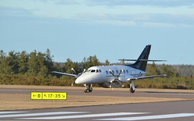 The Jetstream plane operated by Transaviabaltika on the Tallinn-Kuressaare route.